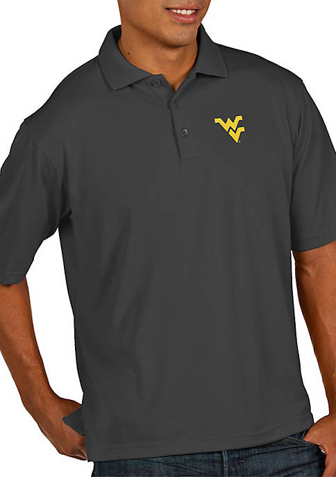 Antigua® West Virginia Mountaineers Pique Xtra-Lite Short Sleeve