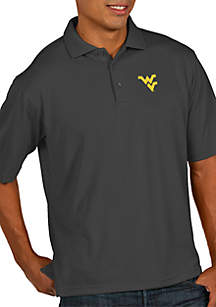 West Virginia Mountaineers Pique Xtra-Lite Short Sleeve Polo