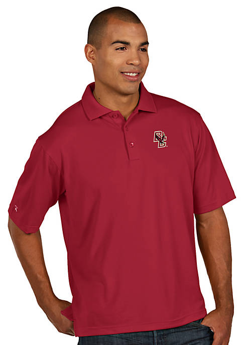 Antigua® Boston College Eagles Mens Pique Xtra Lite