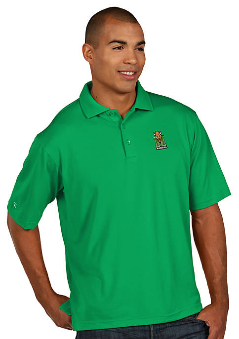 Antigua® Marshall Thundering Herd Mens Pique Xtra Lite