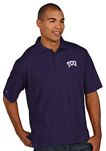 Texas Christian Horned Frog Men's Pique Xtra Lite Polo