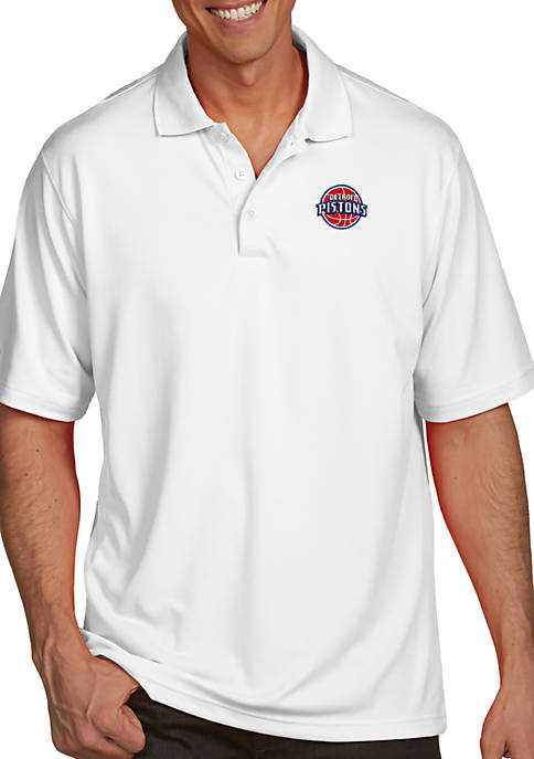 Antigua® Detroit Pistons Mens Pique Xtra Lite Polo
