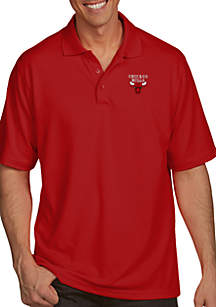 Chicago Bulls Mens Pique Xtra Lite Polo