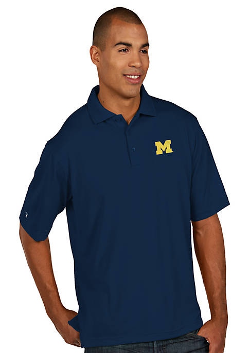 Antigua® Michigan Wolverines Pique Xtra Lite Polo