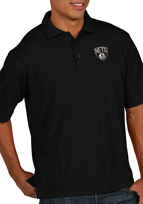 Antigua® Brooklyn Nets Mens Pique Xtra Lite Polo
