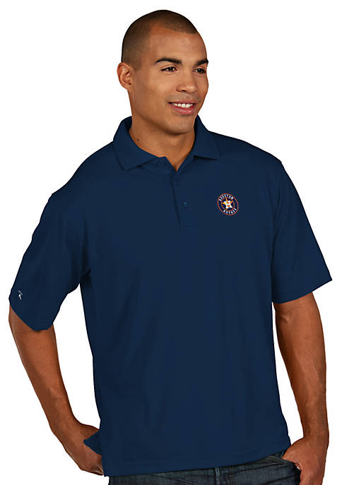 Antigua® Houston Astros Pique Xtra Lite Polo