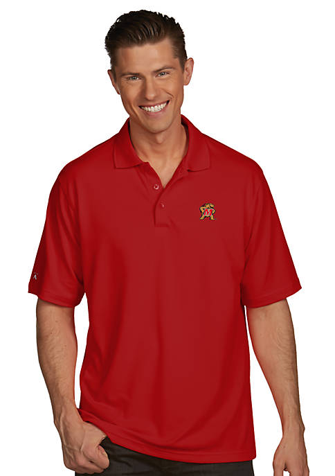 Antigua® Maryland Terrapins Pique Xtra Lite Polo