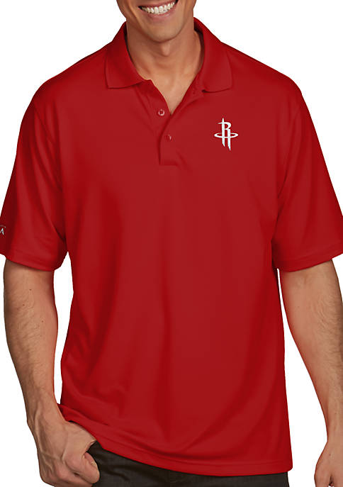 f34d91f95085 Antigua® Houston Rockets Mens Pique Xtra Lite Polo