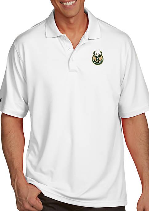 Antigua® Milwaukee Bucks Mens Pique Xtra Lite Polo