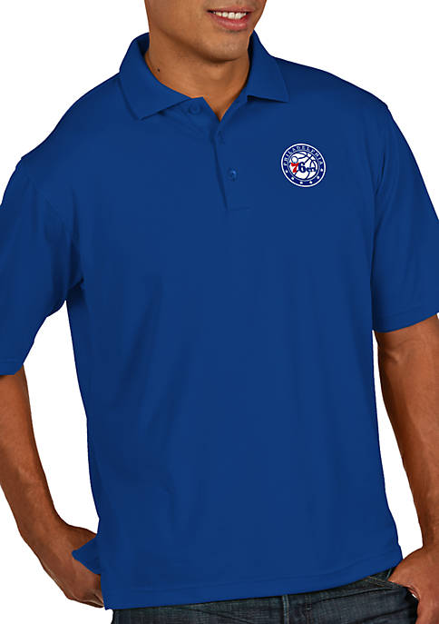 Antigua® Philadelphia 76ers Mens Pique Xtra Lite Polo
