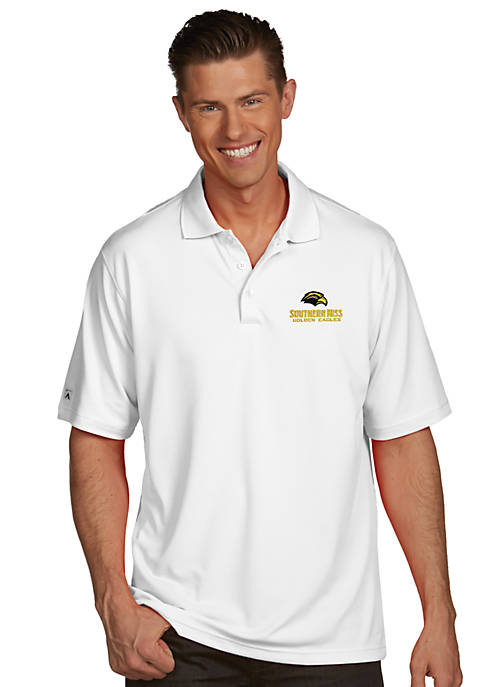 Southern Miss Golden Eagles Mens Pique Xtra Lite Polo
