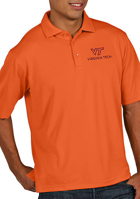 Antigua® Virginia Tech Hokies Pique Xtra-lite Short Sleeve
