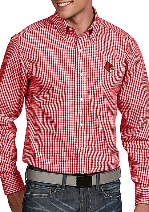Antigua® Louisville Cardinals Associate Woven Shirt