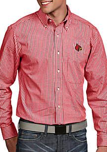 Antigua® Louisville Cardinals Associate Woven Shirt