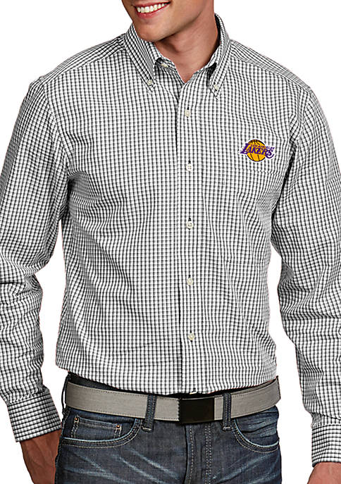 Antigua® LA Lakers Mens Associate LS Woven Shirt
