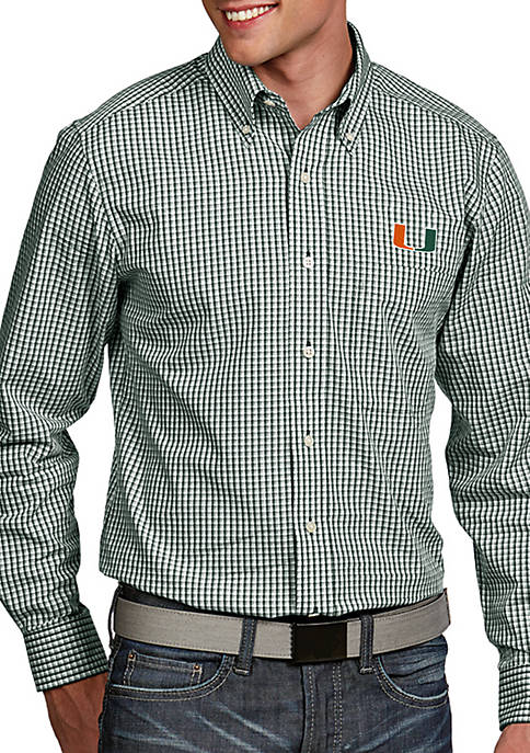 Antigua® Miami Hurricanes Associate Woven Shirt