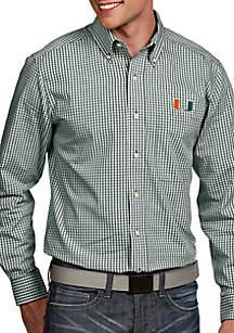 Antigua® Miami Hurricanes Associate Woven Shirt