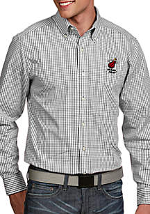 Antigua® Miami Heat Mens Associate LS Woven Shirt