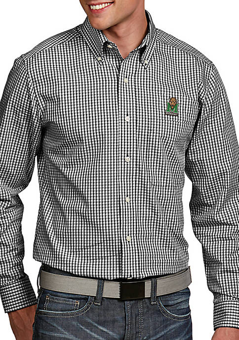 Antigua® Marshall Thundering Herd Associate Woven Shirt