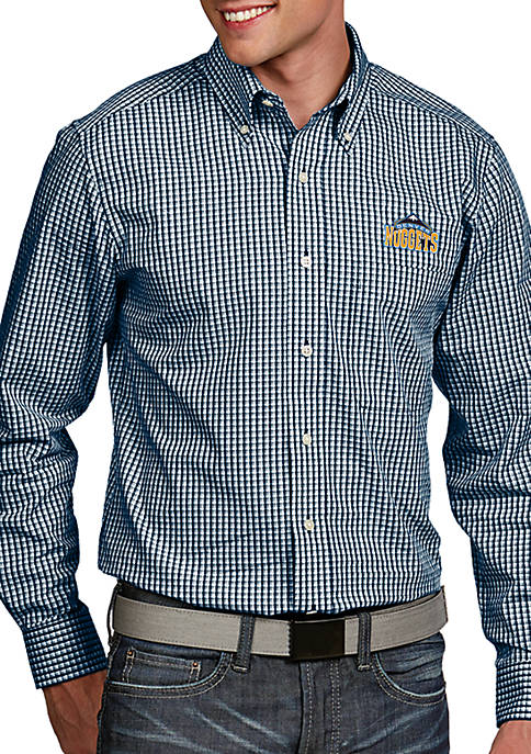Antigua® Denver Nuggets Mens Associate LS Woven Shirt