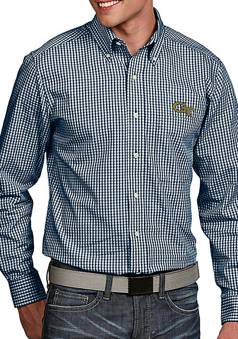 Antigua® Georgia Tech Yellow Jackets Associate Woven Shirt