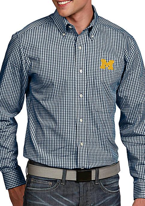 Antigua® Michigan Wolverines Associate Woven Shirt