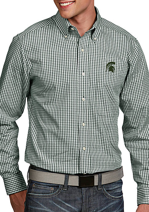 Antigua® Michigan State Spartans Associate Woven Shirt