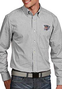 Antigua® Oklahoma City Thunder Mens Associate LS Woven Shirt