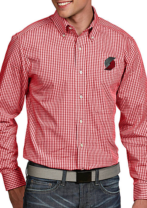 Antigua® Portland Trailblazers Mens Associate LS Woven Shirt