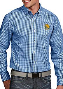 Antigua® Golden State Warriors Mens Associate LS Woven Shirt