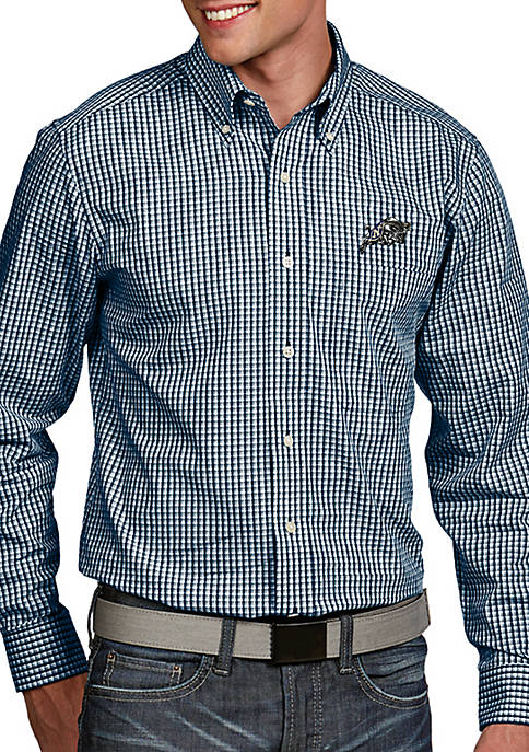 Antigua® Navy Midshipmen Associate Woven Shirt