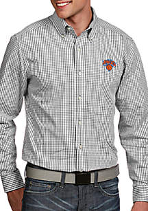 New York Knicks Mens Associate LS Woven Shirt