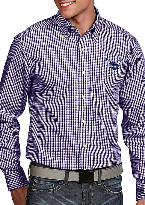 Antigua® Charlotte Hornets Mens Associate LS Woven Shirt