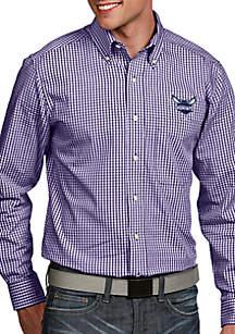 Antigua® Charlotte Hornets Mens Associate LS Woven Shirt