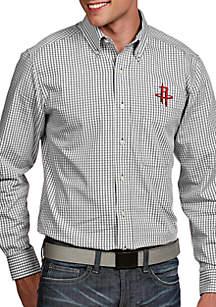 Antigua® Houston Rockets Mens Associate LS Woven Shirt