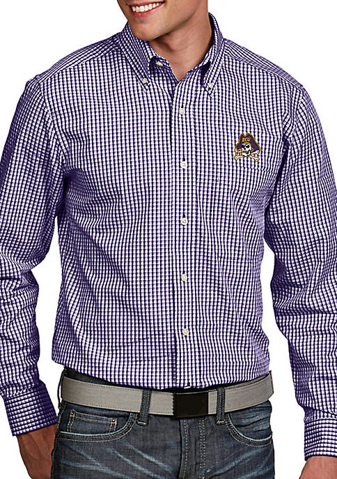 Antigua® East Carolina Pirates Associate Woven Shirt
