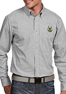 Antigua® Milwaukee Bucks Mens Associate LS Woven Shirt