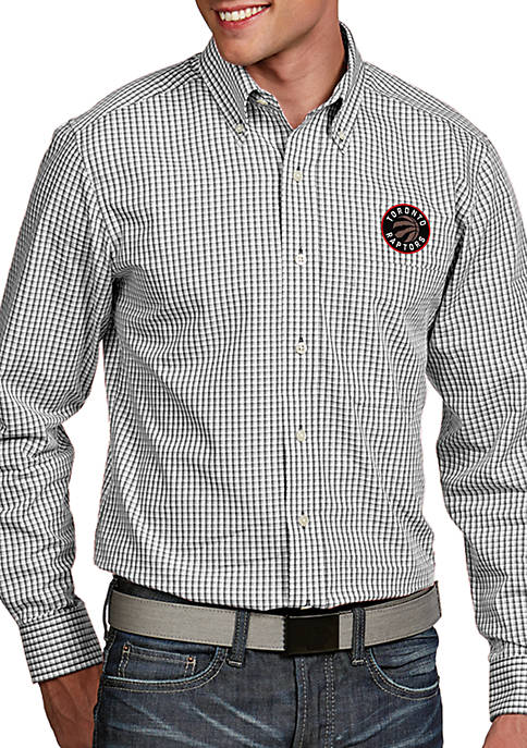 Antigua® Toronto Raptors Mens Associate LS Woven Shirt
