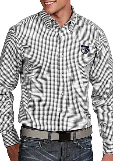 Antigua® Sacramento Kings Mens Associate LS Woven Shirt