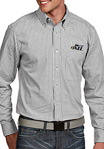 Antigua® Utah Jazz Mens Associate LS Woven Shirt