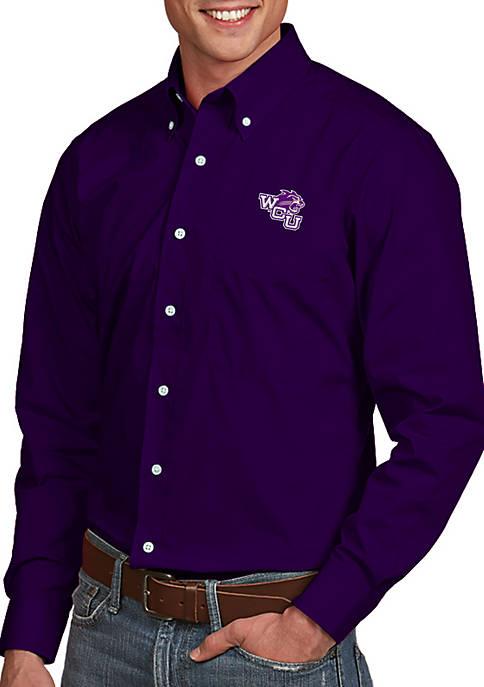 Antigua® Western Carolina Catamounts Dynasty Woven Shirt