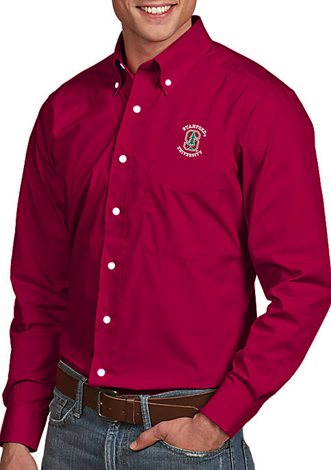 Antigua® Stanford Cardinal Dynasty Woven Shirt