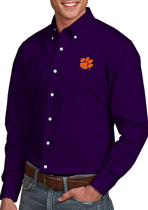 Antigua® Clemson Tigers Dynasty Woven Shirt