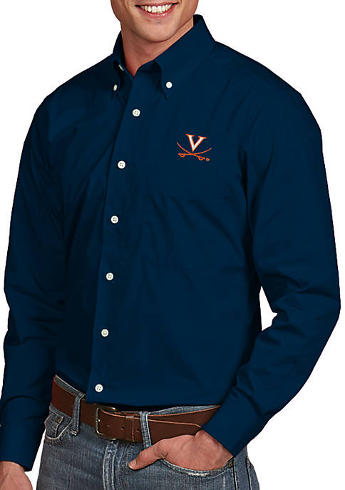 Antigua® Virginia Cavaliers Dynasty Woven Shirt