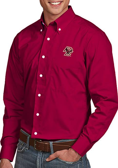 Antigua® Boston College Eagles Dynasty Woven Shirt
