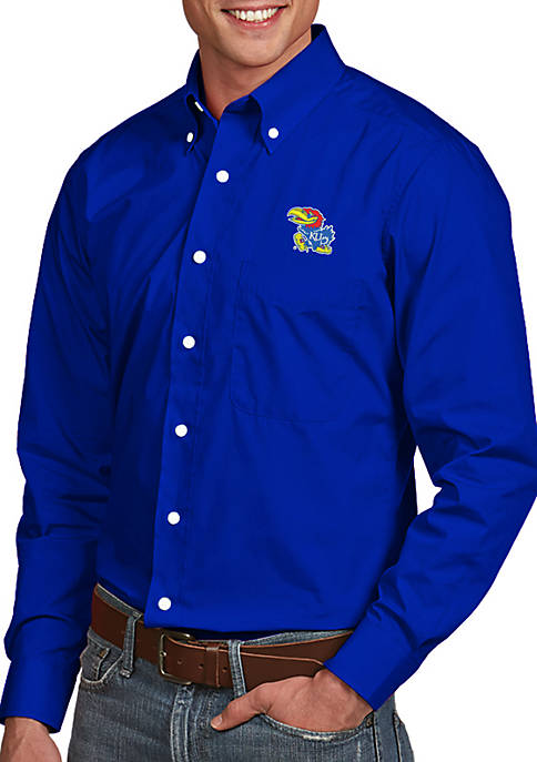 Antigua® Kansas Jayhawks Dynasty Woven Shirt