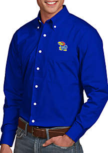 Antigua® Kansas Jayhawks Dynasty Woven Shirt