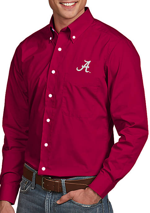 Antigua® Alabama Crimson Tide Dynasty Woven Shirt
