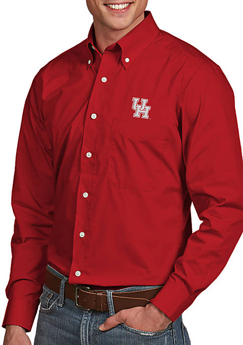 Antigua® Houston Cougars Dynasty Woven Shirt