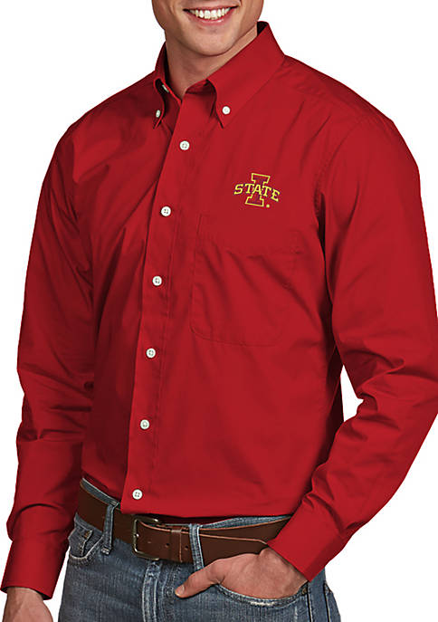 Antigua® Iowa State Cyclones Dynasty Woven Shirt